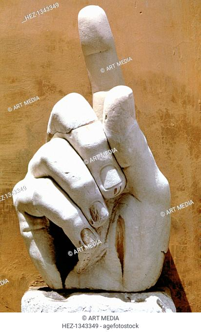Right hand from a colossal statue of Emperor Constantine, 330 AD. From the Palazzo dei Conservatori, Rome