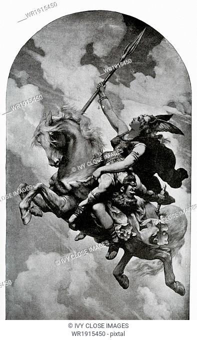 According to Norse mythology, the Valkyries were the daughters or attendants of Odin, the chief god (also called Wotan). The Norse believed the Valkyries came...
