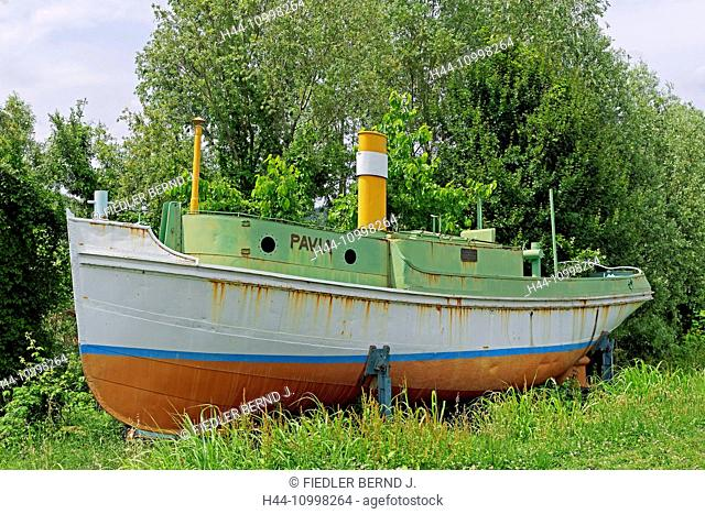 Museum for inland ship journey, steamboat, PAVIA