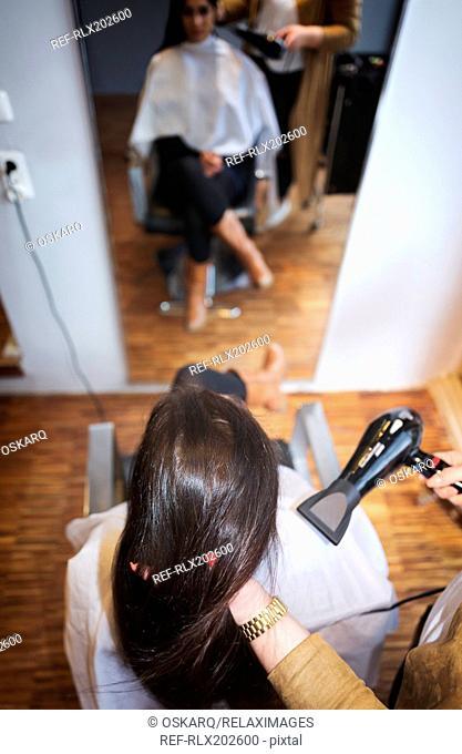 Hair dryer drying hair styling stylist hairdresser