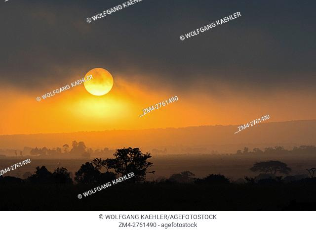 Sunrise in the Ol Pejeta Conservancy in Kenya