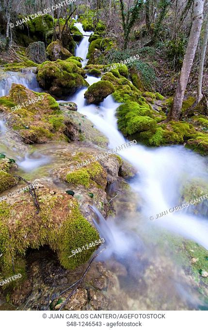 Rio Urederra in the Sierra de Navarra Spain Europe Urbasa
