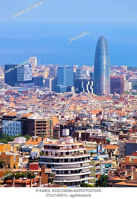 Cityscape of Barcelona in Catalonia, Spain