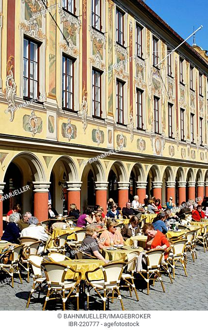 Former tax house market square Memmingen Bavarian Swabia Bavaria Germany