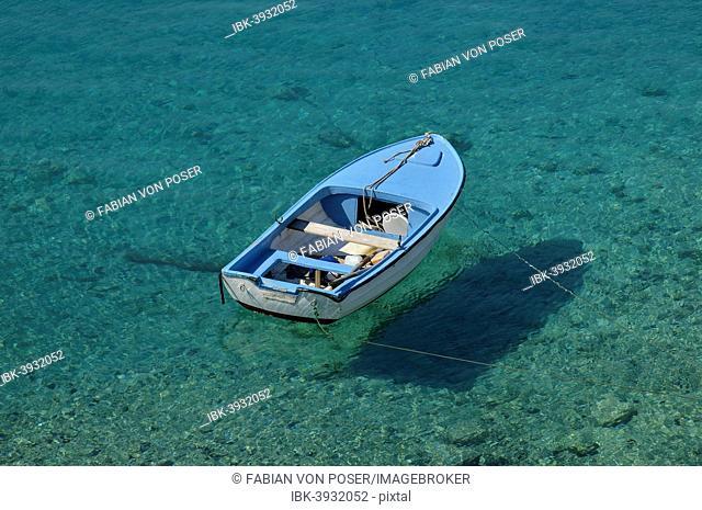 Fishing boat in a bay, near Jadrtovac, Adriatic Sea, Dalmatia, Croatia