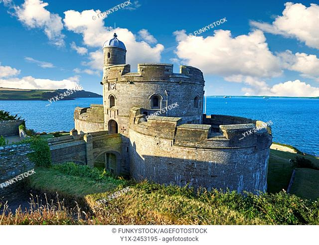St Mawes Castel, built as part opt a defensive chain of south coast fortresses between 1540 & 1545 by King of England, Henry VIII