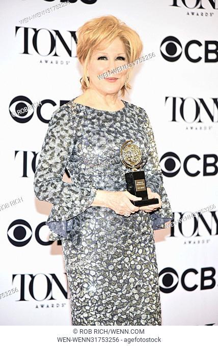 71st Annual Tony Awards - Press Room Featuring: Bette Midler Where: Manhattan, New York, United States When: 11 Jun 2017 Credit: Rob Rich/WENN.com