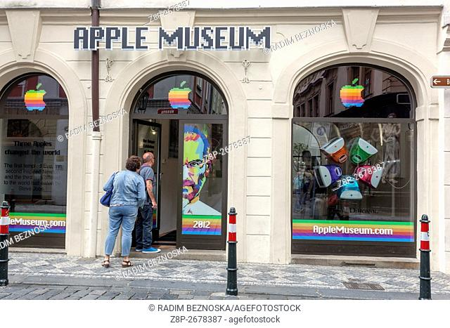 Apple Museum, entrance from Husova street, Old Town, Czech Republic