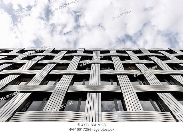Modern facade, stainless steel, Hamburg, Germany