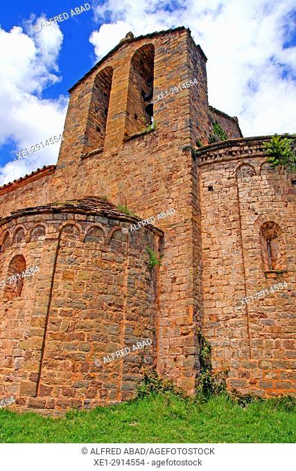 Church of Sant Pere de Montgrony, Bergueda, Catalonia, Spain
