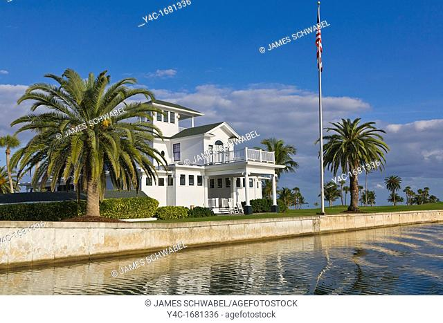 House on waterway in Boca Grande on Gasparilla Island Florida