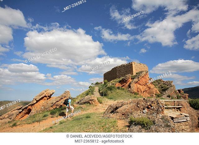 Herce Castle, La Rioja wine region, Cidacos valley, Spain, Europe