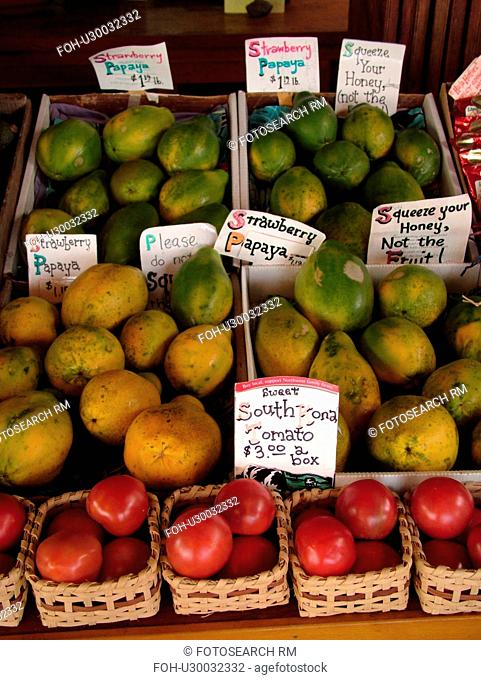 South Kona, Big Island, Island of Hawaii, HI, Hawaii, Kona Coast, Leeward, West Coast, Captain Cook, South Kona Fruit Stand, roadside farm stand, tomatoes