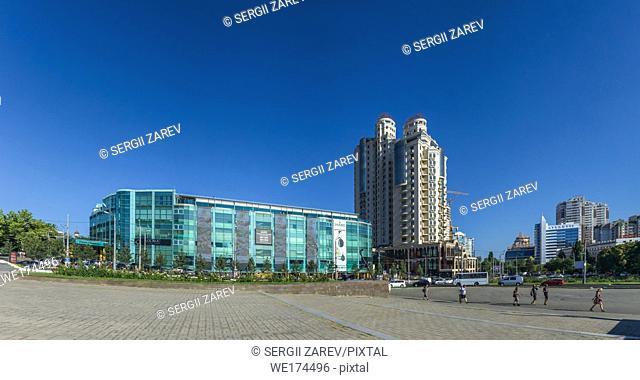 April 10 Square panoramic view. Odessa. Ukraine