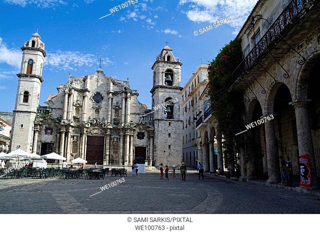 Cathedral de San Cristobal and Palacio de los Marqueses de Arcos, Havana, Cuba