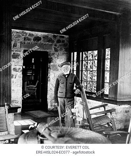Andrew Carnegie in his golf cottage near St. Andrews Golf Links Westchester Co. N.Y. 1911. BSLOC-2010-18-22