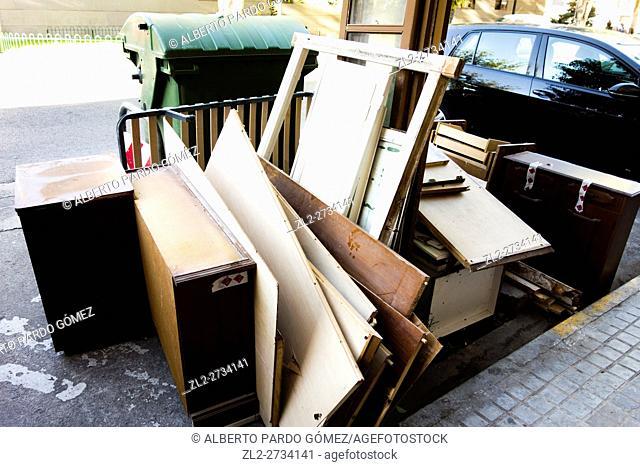 Abandoned street furniture, valencia, Spain
