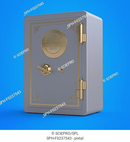 Illustration of a safe