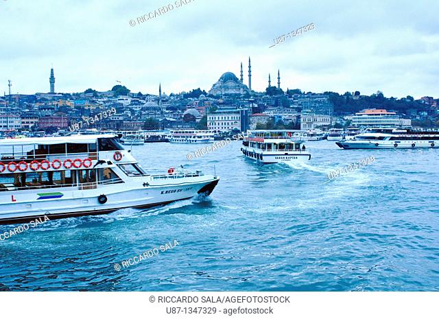 Turkey, Istanbul, Ferry Boat on the Golden Horn