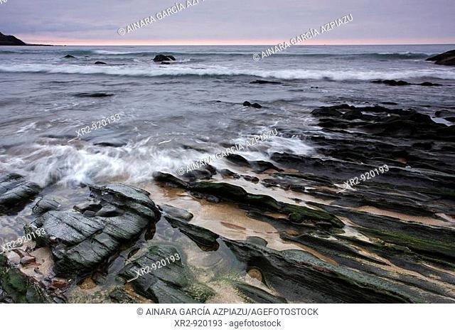 Sunset in Deba beach, Gipuzkoa, Basque Country, Spain