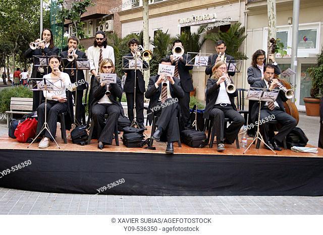 Cobla (Music band). Barcelona, Catalonia, Spain