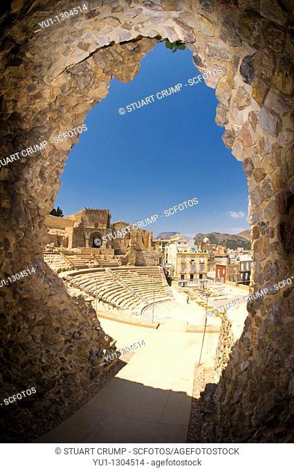 Roman Amphitheatre in Cartagena, Murcia, Spain