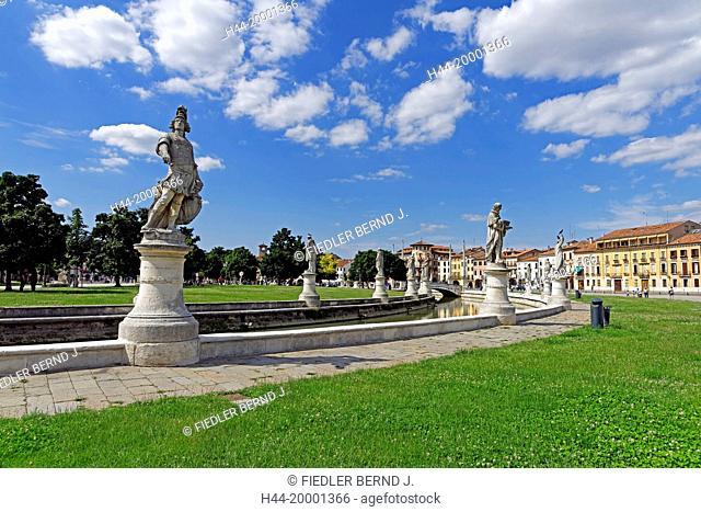 Padua, Padova, town park, Isola Memmia