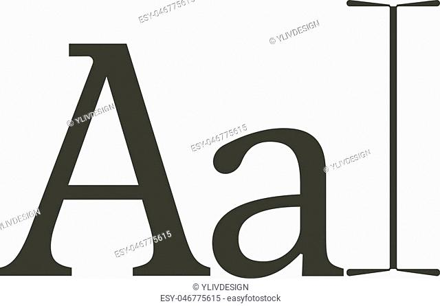 Typography icon. Cartoon illustration of typography vector icon for web isolated on white background