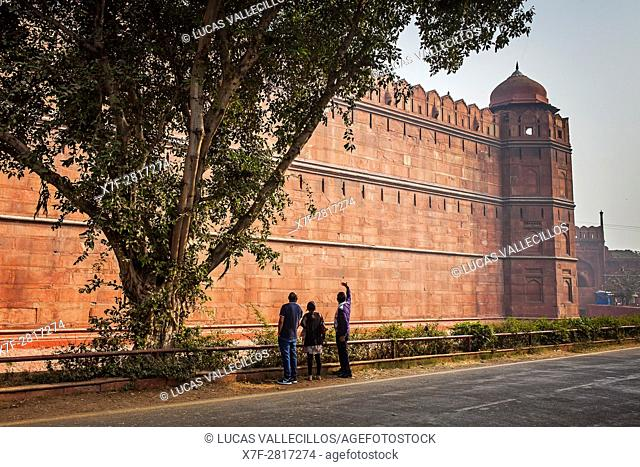 Rampart of Red Fort, Delhi, India