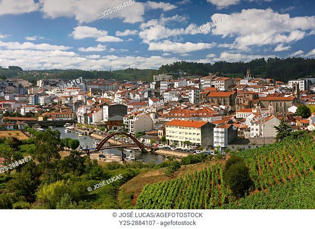Panoramic view, Betanzos, La Coruna province, Region of Galicia, Spain, Europe