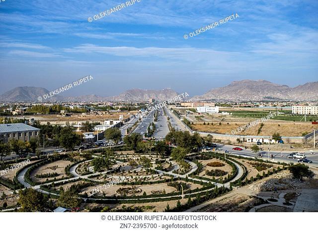 Kabul city landscape from Darul Aman Palace, Kabul, Afghanistan