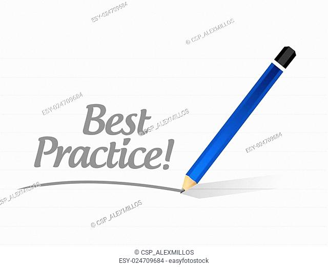 best practice message sign concept