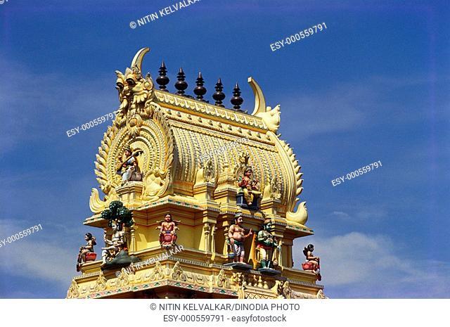 Gopuram of Bull temple , Bangalore , Karnataka , India