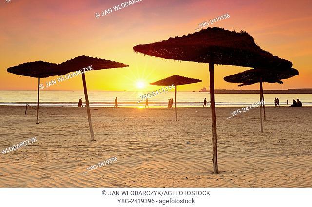 Agadir sand beach, Morocco, Africa