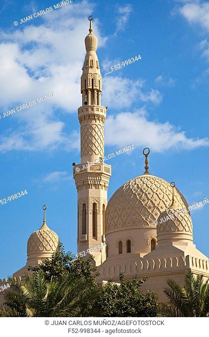 Jumeirah Mosque. Dubai Emirate. EAU. Persian Gulf. Arabia