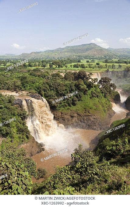 The waterfalls of the Blue Nile called Tis Isat in Ethiopia towards the end of the rainy season  Around rainy season Tis Isat translated water that smokes are...