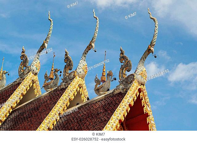 Gabled roof temple