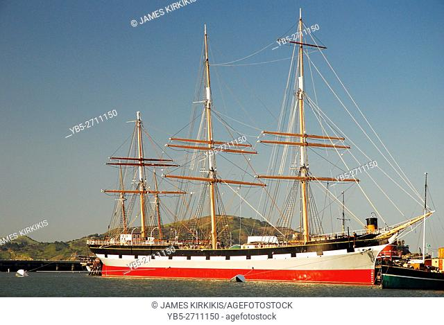 The Historic Masted SS Balcutha, an Exhibit in the San Francisco Maritime Museum