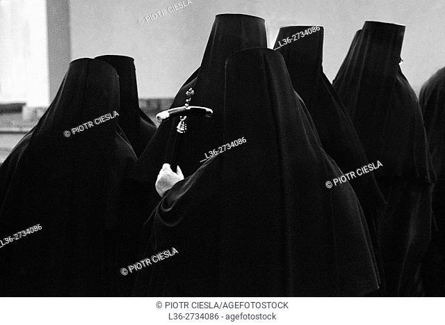 Poland. Nuns at theOrthodox Church womens monastery at Grabarka