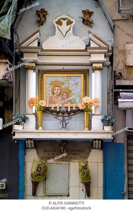Madonna dell'Arco aedicula, Naples, Campania, Italy