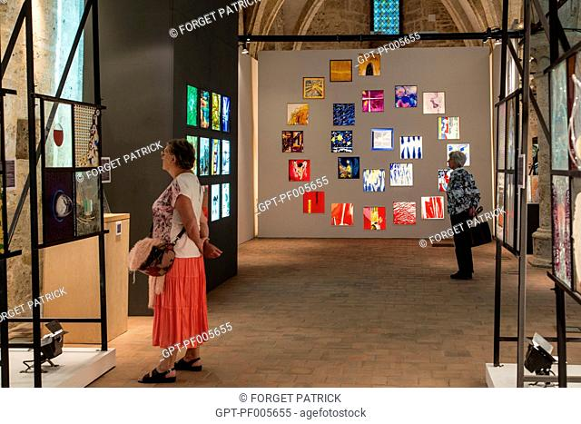 TEMPORARY EXHIBITION AT THE INTERNATIONAL STAINED GLASS CENTER, CHARTRES (28), FRANCE