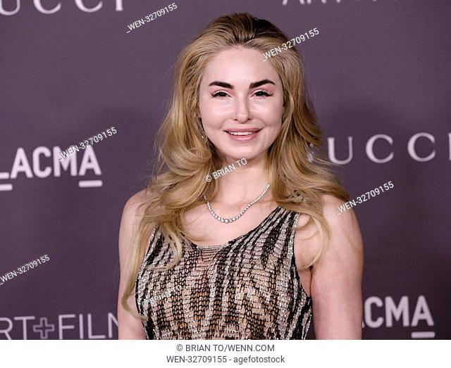 Celebrities attend 2017 LACMA Art + Film Gala Honoring Mark Bradford and George Lucas presented by Gucci at LACMA. Featuring: Elizabeth TenHouten Where: Los...