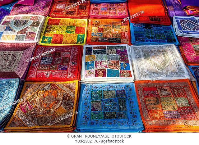 Cushion Covers For Sale, Anjuna Flea Market, Anjuna, Goa, India