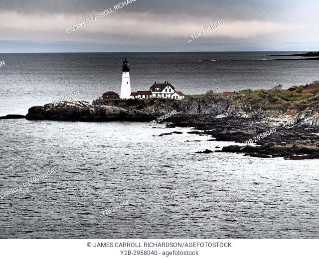 Maine, Portland Harbor, Portland Head Lighthouse