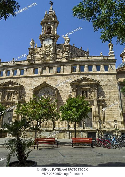 Catholic church Iglesia de los Santos Juanes, also known as Iglesia del San Juan del Mercado in the historic centre of Valencia, Spain, Europe