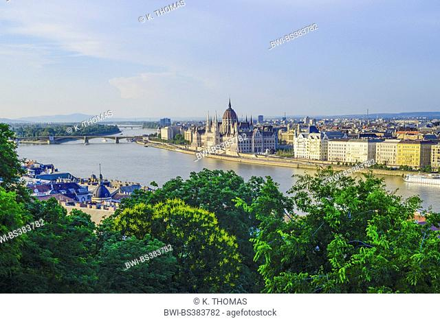 Houses of Parliament in Budapest at the Danube, Hungary, Budapest