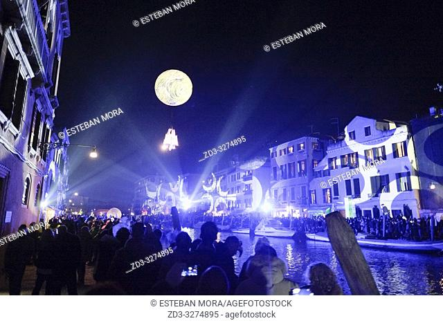 Moment of the 2019 Venice Carnival opening show