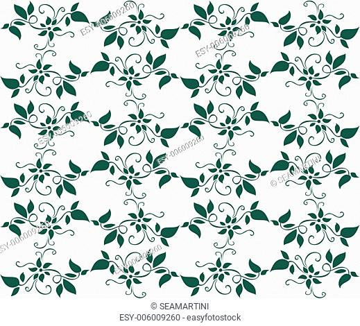 Seamless background with floral patterns for wallpaper design