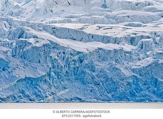 Deep Blue Glacier, Albert I Land, Arctic, Spitsbergen, Svalbard, Norway, Europe