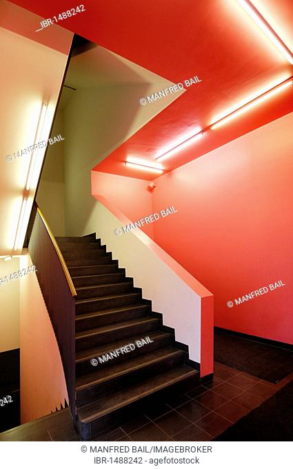 Staircase, Fuenf Hoefe shopping gallery, Munich, Bavaria, Germany, Europe